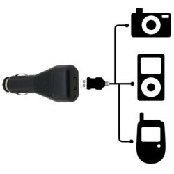 Tape Cassette Adapter/ Car Charger for Apple iPod/ iPhone 3GS/ 4