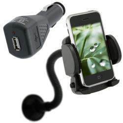Car Charger and Windshield Holder Mount for Apple iPhone 3G/ 3GS/ 4