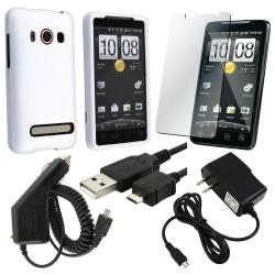 Case/ LCD Protector/ Travel and Car Charger/ USB Cable for HTC EVO 4G