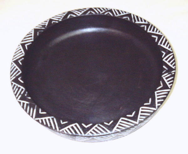 Hand-crafted African Accent Sesse Wood Decorative Fruit Bowl , Handmade in Ghana
