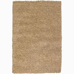 Handwoven Sand Mandara Shag Rug (5' x 7'6)
