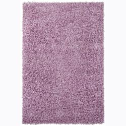 Handwoven Light Purple Mandara Shag Rug (7'9 Round)