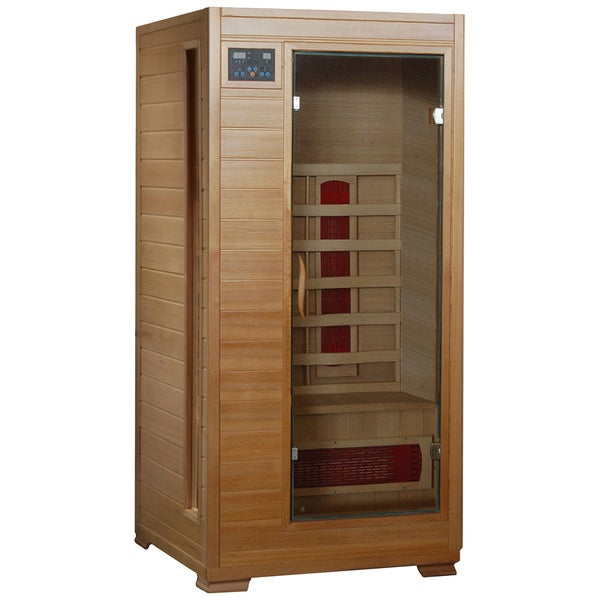 Radiant Saunas 1-2 Person Hemlock Infrared Sauna with 3 Ceramic Heaters