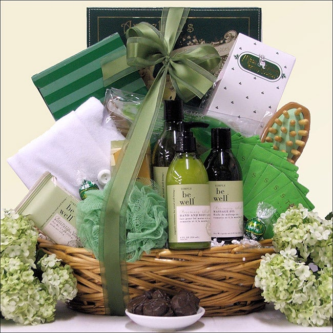 Be Well Rosemary Mint Spa Luxuries: Bath & Body Spa Gift Basket