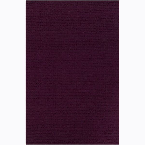 Artist's Loom Hand-tufted Contemporary Solid Wool Rug (9'x12')