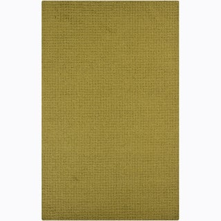 Hand-tufted Mandara Green Rug (9' x 12')