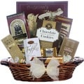 Chocolate Delights: Chocolate Oval Dark-cherry Willow Gift Basket