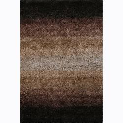 Manhattan Ombre Taupe Hand Loomed Wool Rug 5 X 8