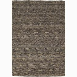 Handwoven Multicolor One-Inch Mandara New Zealand Wool Rug (5' x 7'6)