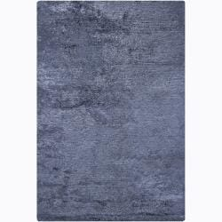 Handwoven One-Inch Blue Mandara Shag Rug (9' x 13')