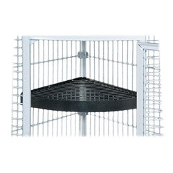 Prevue Pet Products Black-hammertone Metal Corner Bird Cage Shelf