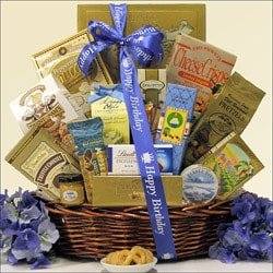 Best Wishes Sweet & Salty Gourmet Happy-Birthday Gift Basket