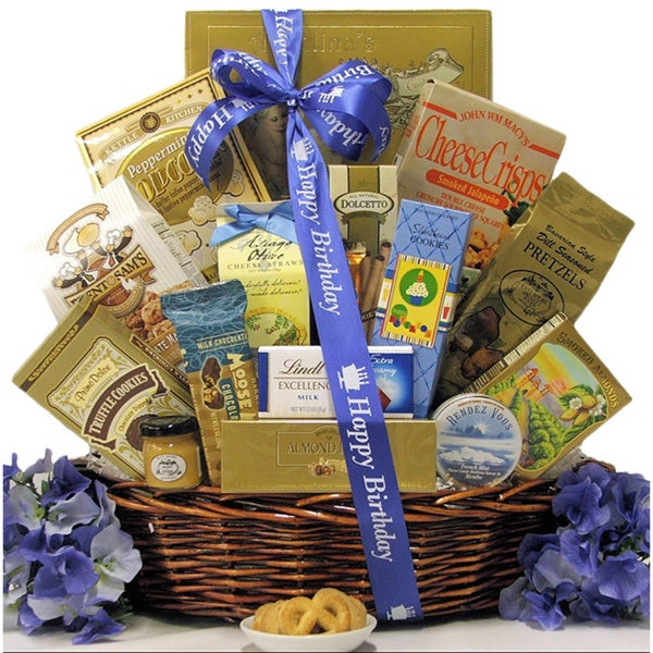 Great Arrivals Best Wishes Sweet & Salty Gourmet Happy-Birthday Gift Basket