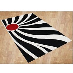 Hand -tufted Flordely Off-White Abstract Wool Rug (7'x 9')