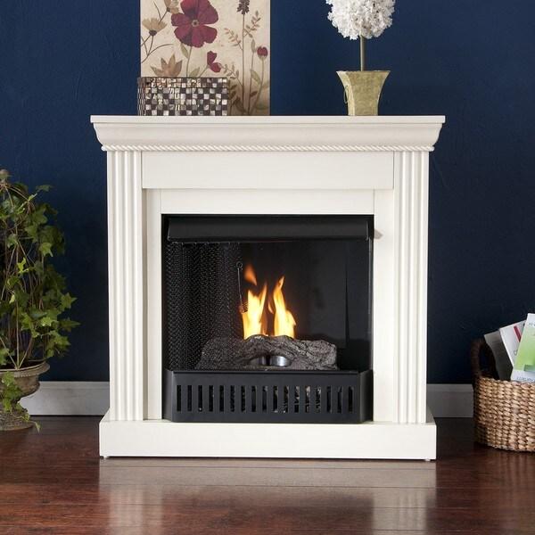 Martel Ivory Convertible Petite Gel Fuel Fireplace