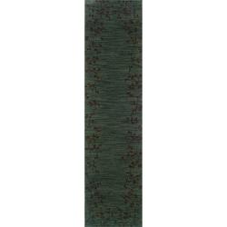 Ellington Blue/Brown Transitional Area Runner Rug (1'11 x 7'6)