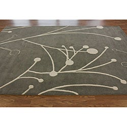 Handmade Luna Contemporary New Zealand Wool Rug (7'6 x 9'6)