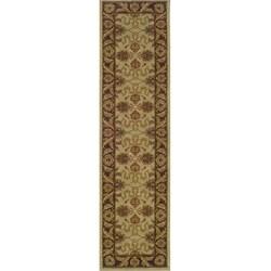 Ellington Beige/Brown Traditional Area Runner Rug (1'11 x 7'6)