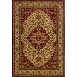 Ellington Red/Gold Traditional Area Rug (3'10 x 5'5)