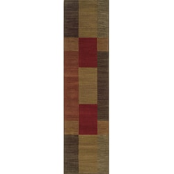 Ellington Red/Brown Transitional Area Runner Rug (1'11 x 7'6)