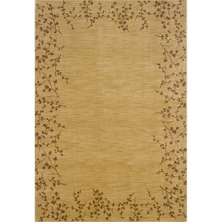 Ellington Beige/Brown Floral Rug (3'10 x 5'5)