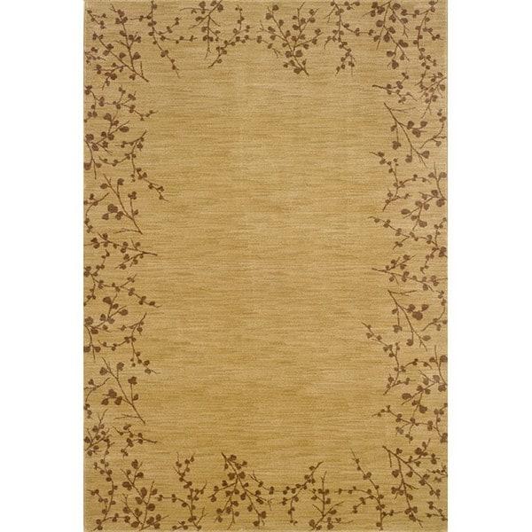 Ellington Beige/Brown Floral Rug (3'10 x 5'5)
