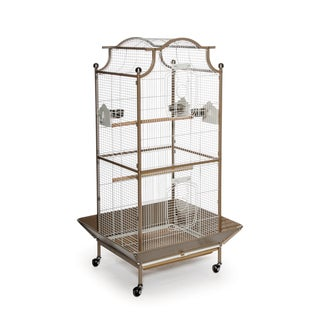 Prevue Pet Products Large Locking Cocoa/White Pagoda Cockatiel Cage