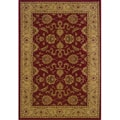 Ellington Red/Beige Traditional Area Rug (5'3 x 7'6)