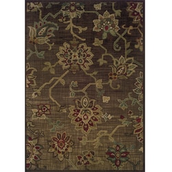 Ellington Brown/Green Transitional Area Rug (5'3 x 7'6)
