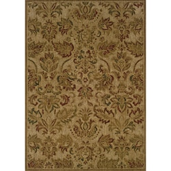 Ellington Beige/Green Transitional Area Rug (5'3 x 7'6)