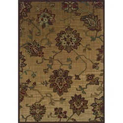 Ellington Beige/Red Transitional Area Rug (6'7 x 9'6)