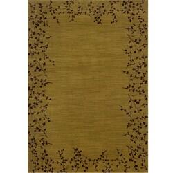 Ellington Gold/Brown Transitional Area Rug (7'8 x 10'10)