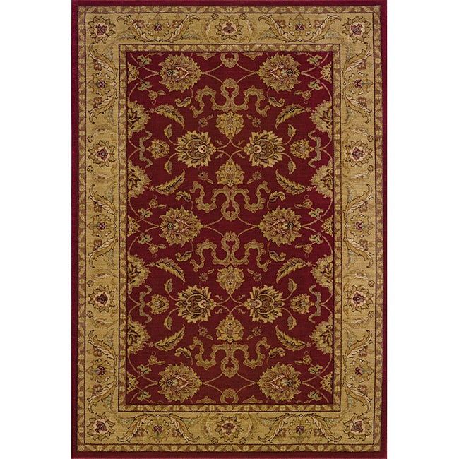 Ellington Red/Beige Traditional Area Rug (7'8 x 10'10)
