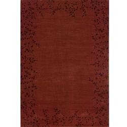 Ellington Red/Brown Transitional Area Rug (7'8 x 10'10)