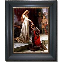 Edmund Leighton 'The Accolade' Framed Canvas Art