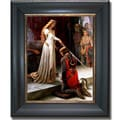 Edmund Leighton 'The Accolade' Framed Canvas Art