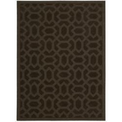 Nourison Hand-tufted Barcelona Brown Rug (7'9 x 9'9)