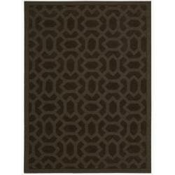 Nourison Hand-tufted Barcelona Brown Rug (7'9 x 9'9)