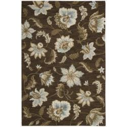 Nourison Hand Tufted Marbella Chocolate Wool Rug (3'6 x 5'6)