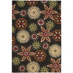 Nourison Hand Tufted Marbella Wool Black Rug (3'6 x 5'6)