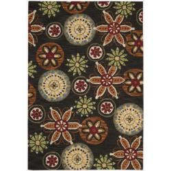 Nourison Hand Tufted Marbella Wool Black Rug (7'9 x 9'9)