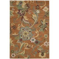 Nourison Hand Tufted Marbella Rust Wool Rug (7'9 x 9'9)