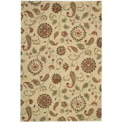 Nourison Hand Tufted Marbella Wool Beige Rug (7'9 x 9'9)
