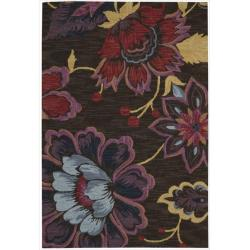 Nourison Hand Tufted Marbella Wool Brown Wool Rug (7'9 x 9'9)