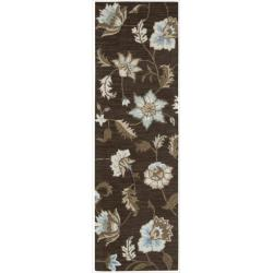 Nourison Hand Tufted Marbella Chocolate Wool Rug (2'3 x 7'6) Runner