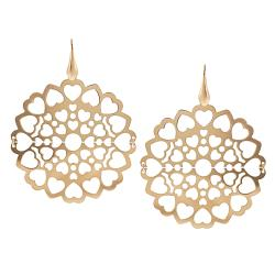 Journee Collection Rose Goldplated Sterling Silver Heart Earrings