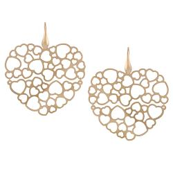 Tressa Rose Goldplated Sterling Silver Large Heart Earrings
