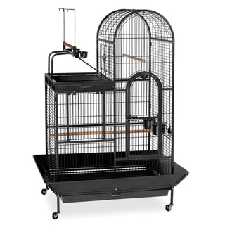 Prevue Pet Products Wrought-iron Black Double-roof Play-top Bird Cage