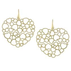 Tressa Goldplated Sterling Silver Large Heart Earrings