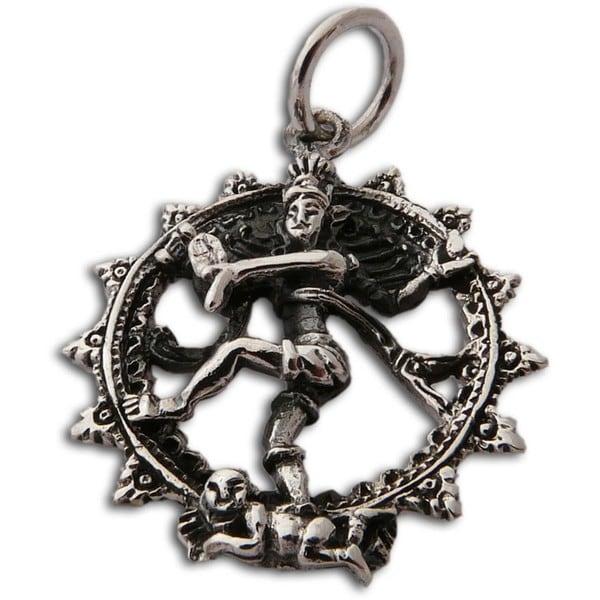 Shiva Nataraja' Polished Sterling Silver Pendant (Thailand)